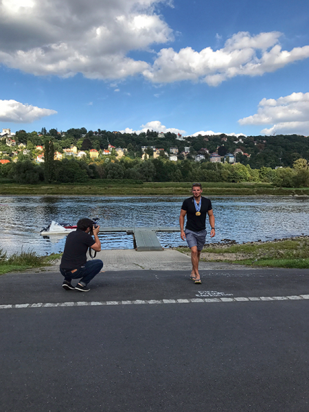 Fotoshooting an der Elbe
