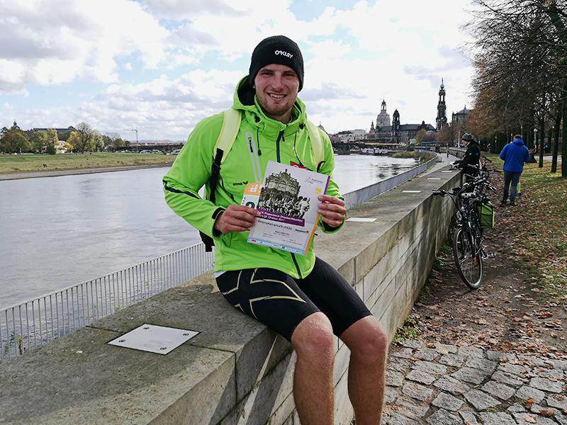 Ziel erreicht beim Dresdner Halbmarathon